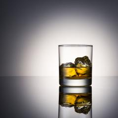 Whiskey glass alcohol with ice Rocks and reflection surface- Stock Photo or Stock Video of rcfotostock | RC-Photo-Stock