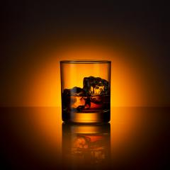 Whiskey glass bourbon with ice cubes rocks and orange sunset dawn summer : Stock Photo or Stock Video Download rcfotostock photos, images and assets rcfotostock | RC-Photo-Stock.: