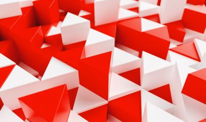 White and red background with triangles - 3d rendering - Stock Photo or Stock Video of rcfotostock | RC-Photo-Stock