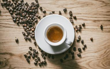 White Cup of Espresso on wooden table. Top view. : Stock Photo or Stock Video Download rcfotostock photos, images and assets rcfotostock | RC-Photo-Stock.: