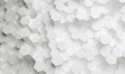 white Hexagon Background - 3D rendering - Illustration - Stock Photo or Stock Video of rcfotostock | RC-Photo-Stock