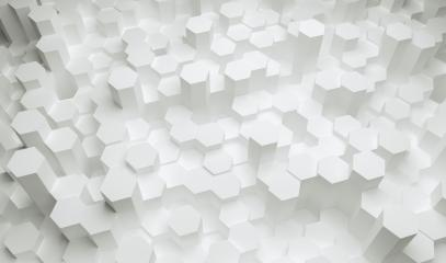 white hexagons background pattern - 3D rendering - Illustration - Stock Photo or Stock Video of rcfotostock | RC-Photo-Stock