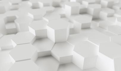 white hexagons background pattern - 3D rendering - Illustration - Stock Photo or Stock Video of rcfotostock   RC-Photo-Stock