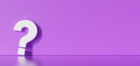 White question mark at purple concrete grunge Wall - FAQ Concept- Stock Photo or Stock Video of rcfotostock | RC-Photo-Stock