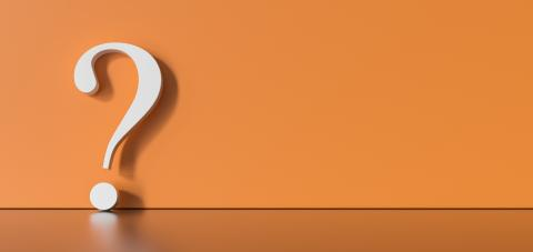 White question mark on a orangebackground with empty copy space on left side. 3D Rendering- Stock Photo or Stock Video of rcfotostock | RC-Photo-Stock