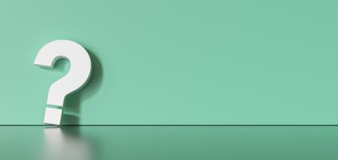 White question mark on green background with empty space on left side. 3D Rendering- Stock Photo or Stock Video of rcfotostock   RC-Photo-Stock