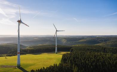 Wind turbine from aerial view - Sustainable development, environment friendly, renewable energy concept. : Stock Photo or Stock Video Download rcfotostock photos, images and assets rcfotostock | RC-Photo-Stock.: