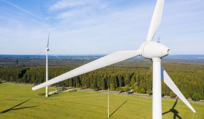 Wind turbine view from drone - Sustainable development, environment friendly, renewable energy concept. : Stock Photo or Stock Video Download rcfotostock photos, images and assets rcfotostock | RC-Photo-Stock.:
