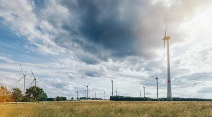 wind turbines against cloudy sky- Stock Photo or Stock Video of rcfotostock | RC-Photo-Stock