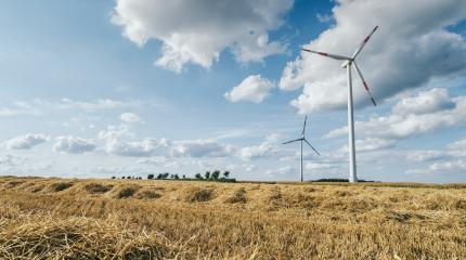 wind turbines at a Agriculture landscape- Stock Photo or Stock Video of rcfotostock | RC-Photo-Stock