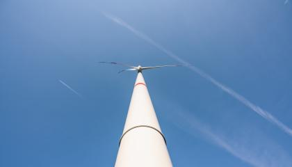 wind turbines generating electricity against blue sky - Stock Photo or Stock Video of rcfotostock   RC-Photo-Stock
