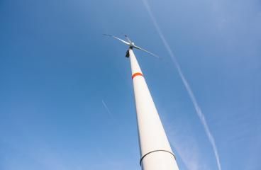 wind turbines generating electricity with blue sky - Stock Photo or Stock Video of rcfotostock | RC-Photo-Stock