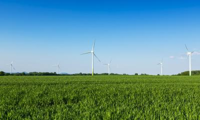 wind wheels in a field wind-turbine wind farm against blue sky agriculture : Stock Photo or Stock Video Download rcfotostock photos, images and assets rcfotostock | RC-Photo-Stock.: