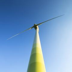 windmill Pinwheel wind turbine wind farm forwards blue skies : Stock Photo or Stock Video Download rcfotostock photos, images and assets rcfotostock | RC-Photo-Stock.: