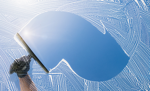 window cleaner cleaning window with squeegee and wiper on a sunny day : Stock Photo or Stock Video Download rcfotostock photos, images and assets rcfotostock | RC-Photo-Stock.: