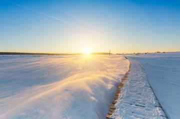 Wintry Sunset in the Hautes Fagnes- Stock Photo or Stock Video of rcfotostock | RC-Photo-Stock