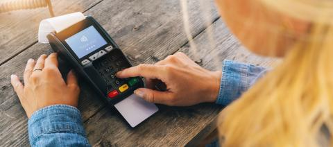 Woman hand enters PIN code on payment terminal in a restaurant- Stock Photo or Stock Video of rcfotostock | RC-Photo-Stock