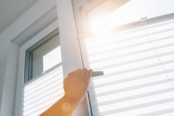 woman hand opens a pvc window with roller- Stock Photo or Stock Video of rcfotostock | RC-Photo-Stock