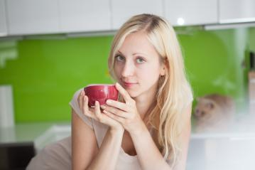 Woman has coffee break at home : Stock Photo or Stock Video Download rcfotostock photos, images and assets rcfotostock   RC-Photo-Stock.: