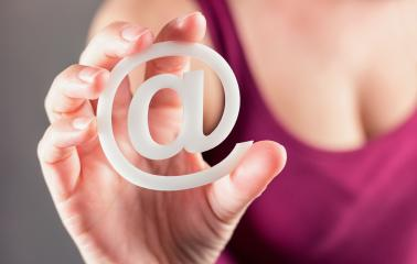 woman holding email sign - Stock Photo or Stock Video of rcfotostock | RC-Photo-Stock