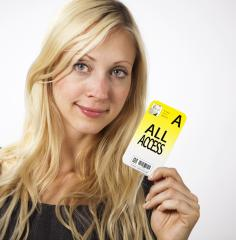Woman shows Access card : Stock Photo or Stock Video Download rcfotostock photos, images and assets rcfotostock | RC-Photo-Stock.: