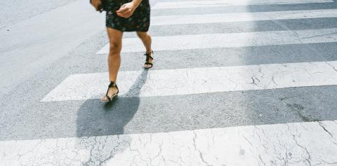 woman walking on a zebra crossing- Stock Photo or Stock Video of rcfotostock | RC-Photo-Stock