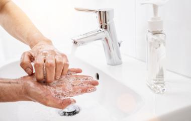 Woman washing his Hands to prevent virus infection and clean dirty hands - coronavirus Sars-CoV-2 covid-19 concept image- Stock Photo or Stock Video of rcfotostock | RC-Photo-Stock