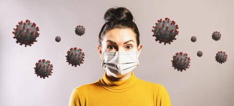 Woman wearing anti virus protection mask to protect from corona COVID-19 and SARS cov 2 infection : Stock Photo or Stock Video Download rcfotostock photos, images and assets rcfotostock | RC-Photo-Stock.: