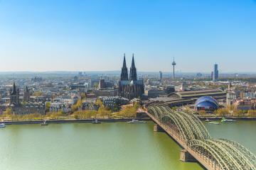 Wonderful view of Cologne over the Rhein river in spring : Stock Photo or Stock Video Download rcfotostock photos, images and assets rcfotostock | RC-Photo-Stock.: