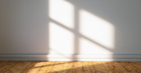 wood plank floor with sun light cast shadow on the wall, Perspective of minimal design architecture	 : Stock Photo or Stock Video Download rcfotostock photos, images and assets rcfotostock | RC-Photo-Stock.: