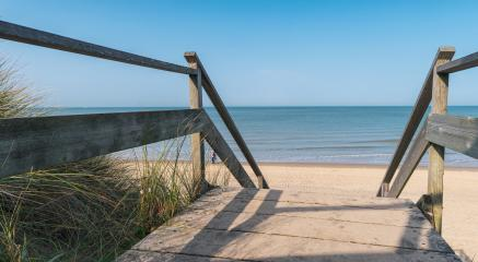 Wooden path to the Baltic sea over sand dunes with ocean view, sunset summer day- Stock Photo or Stock Video of rcfotostock | RC-Photo-Stock
