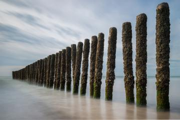 Wooden poles at the beach- Stock Photo or Stock Video of rcfotostock | RC-Photo-Stock