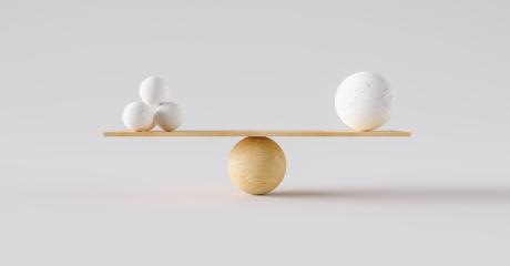 wooden scale balancing one big ball and four small ones. Concept of harmony and balance- Stock Photo or Stock Video of rcfotostock | RC-Photo-Stock