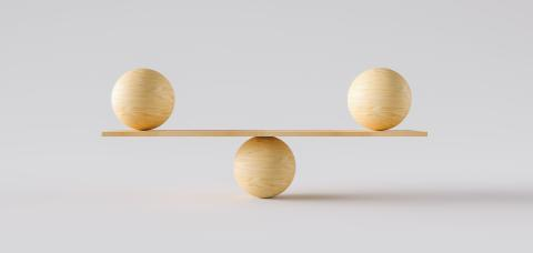 wooden scale balancing two big wodden balls. Concept of harmony and balance- Stock Photo or Stock Video of rcfotostock | RC-Photo-Stock