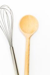 wooden spoon with whisk on white : Stock Photo or Stock Video Download rcfotostock photos, images and assets rcfotostock | RC-Photo-Stock.: