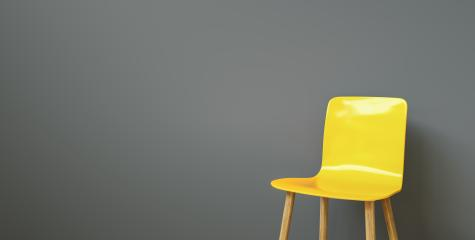 yellow chair in a waiting room of a office, with copy space for individual text - Stock Photo or Stock Video of rcfotostock | RC-Photo-Stock