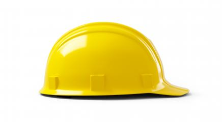 Yellow construction helmet isolated on white background. 3D rendering- Stock Photo or Stock Video of rcfotostock | RC-Photo-Stock