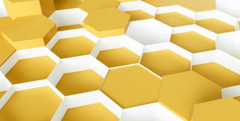 yellow Hexagon Background - 3D rendering - Illustration - Stock Photo or Stock Video of rcfotostock | RC-Photo-Stock