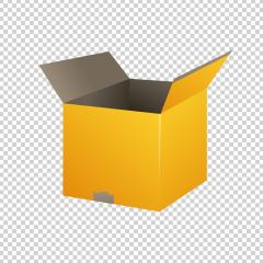 Yellow open carton delivery packaging box on checked transparent background. Vector illustration. Eps 10 vector file.- Stock Photo or Stock Video of rcfotostock | RC-Photo-Stock