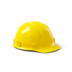 Yellow safety helmet isolated on white background. 3D rendering- Stock Photo or Stock Video of rcfotostock | RC-Photo-Stock