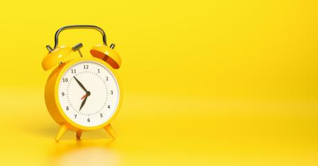 Yellow vintage alarm clock with bright yellow background. Minimal creative concept, with copyspace for your individual text. : Stock Photo or Stock Video Download rcfotostock photos, images and assets rcfotostock | RC-Photo-Stock.: