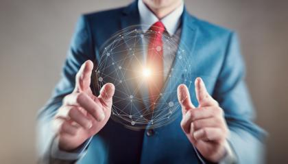 young businessman hand global network connection- Stock Photo or Stock Video of rcfotostock   RC-Photo-Stock