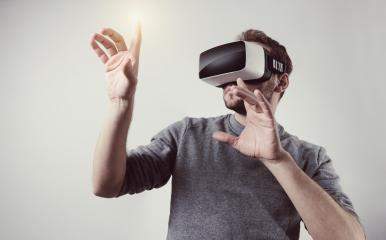 young man wearing Virtual Reality goggles VR Headset- Stock Photo or Stock Video of rcfotostock   RC-Photo-Stock