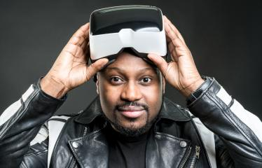 Young man wearing virtual reality googles / VR Glasses : Stock Photo or Stock Video Download rcfotostock photos, images and assets rcfotostock | RC-Photo-Stock.:
