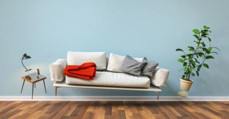 Zero Gravity Sofa hovering in living room with furniture- Stock Photo or Stock Video of rcfotostock | RC-Photo-Stock