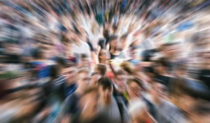 Zoom in on hectic crowd of people in london at a pedestrian area - Stock Photo or Stock Video of rcfotostock | RC-Photo-Stock