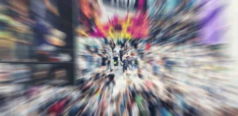 Zoom in on hectic people and people at a trade fair or in a pedestrian area - Stock Photo or Stock Video of rcfotostock | RC-Photo-Stock
