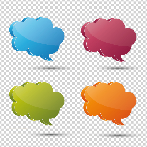 3d speech bubble set on the checked transparent background. Vector illustration. Eps 10 vector file. : Stock Photo or Stock Video Download rcfotostock photos, images and assets rcfotostock | RC-Photo-Stock.: