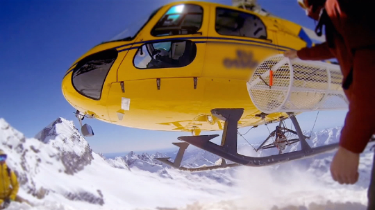 Helicopter / Heliboarding snowboarding Winter sport in Europe Alpes, action cam concept- Stock Photo or Stock Video of rcfotostock | RC-Photo-Stock