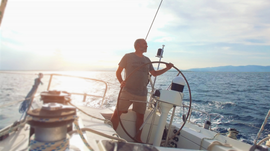 Sailing yacht off shore with beautiful sunset. 4k Video.- Stock Photo or Stock Video of rcfotostock | RC-Photo-Stock